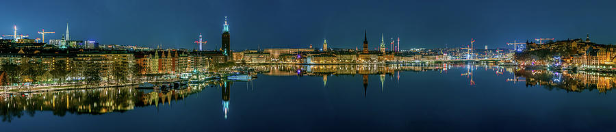 Perfect Stockholm and Gamla Stan reflection from a distant bridge by Dejan Kostic