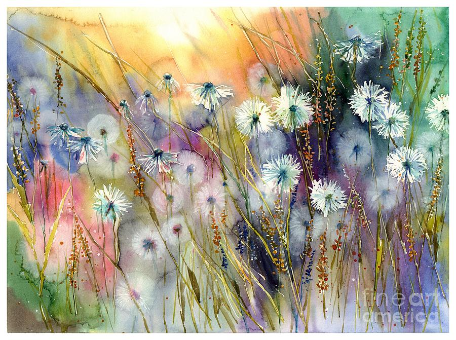 Watercolor Painting - Perfect Summer by Suzann Sines