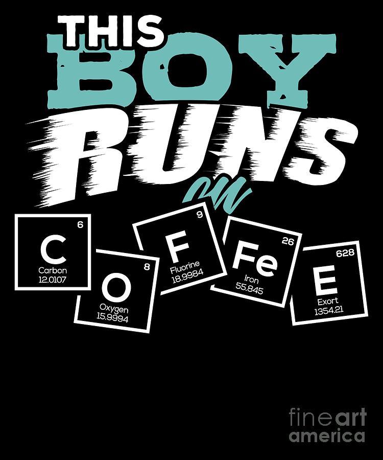 Espresso Digital Art - Periodic Table Of Coffee Caffein Espresso Gift by TeeQueen2603