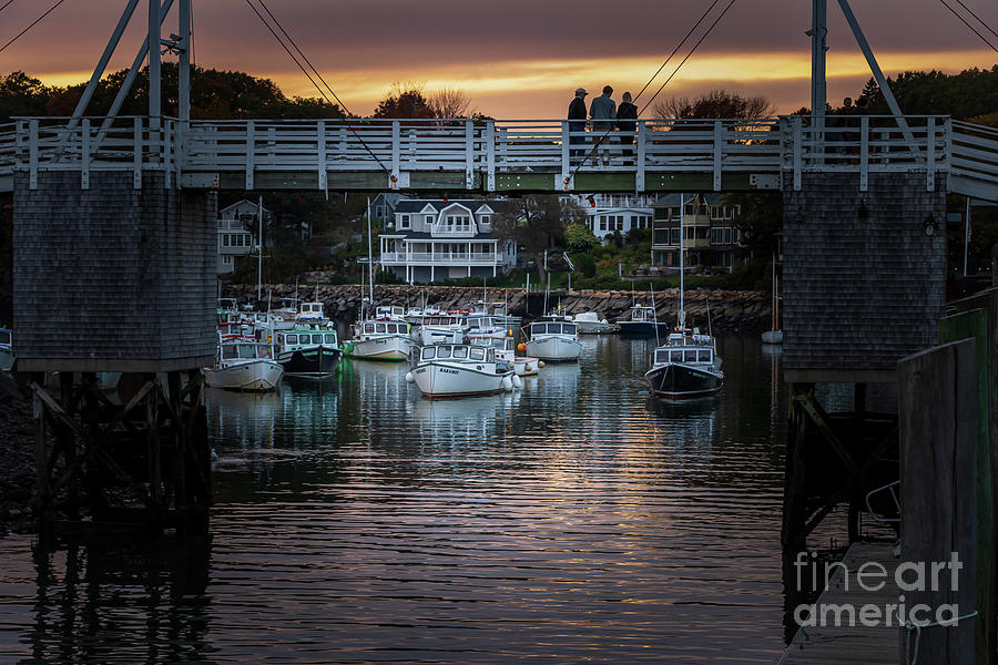 Perkins Cove Footbridge by Elizabeth Dow