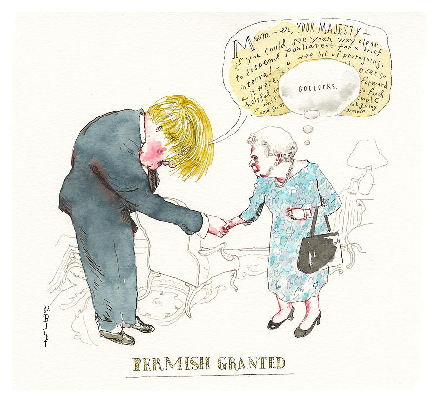 Permish Granted Painting by Barry Blitt