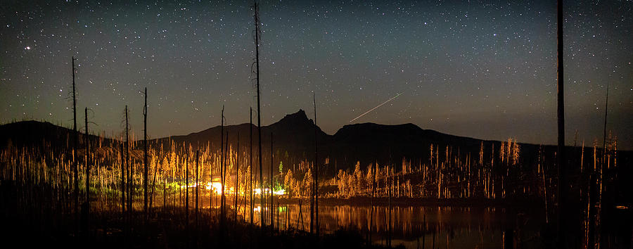 Perseid at Round Lake by Cat Connor