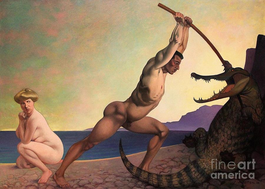 Perseus Slaying the Dragon by Felix Edouard Vallotton