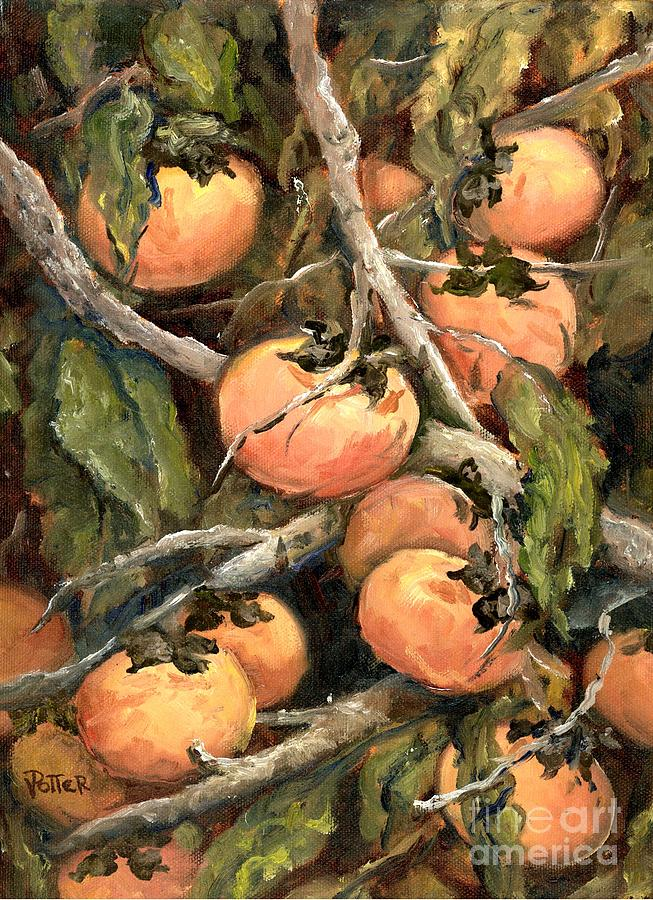 Persimmons by Virginia Potter