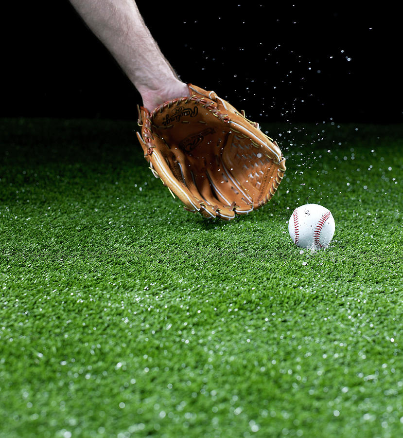 Person Catching Baseball Photograph by Yamada Taro