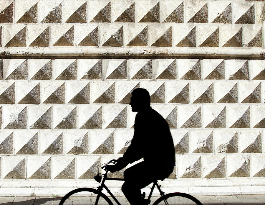 Person Riding Bicycle Photograph by Massimo Merlini