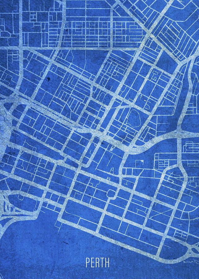 Street Map Australia.Perth Australia City Street Map Blueprints