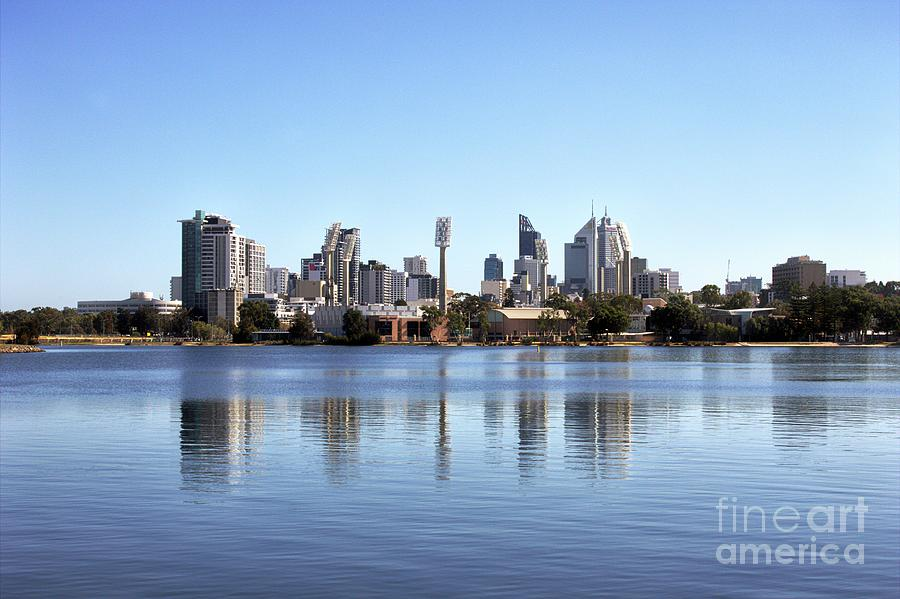 Perth City Over Swan River by Carolyn Parker