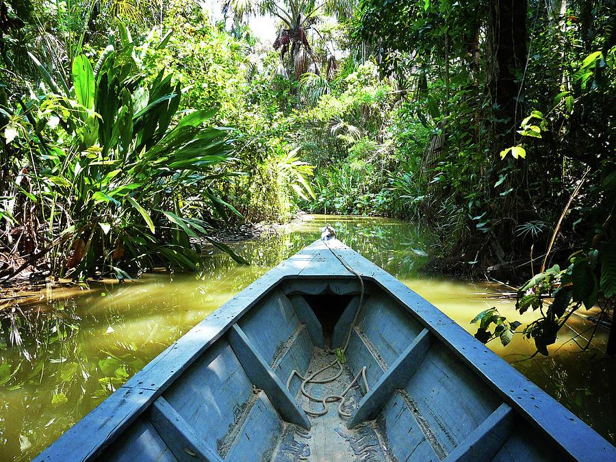 Peru Amazon Boat Photograph by Photo, David Curtis