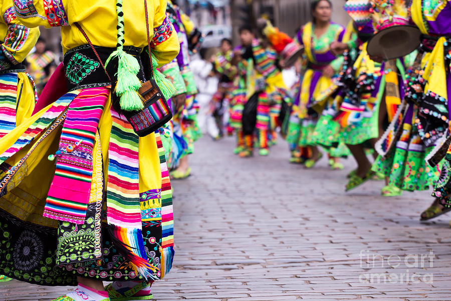 Play Photograph - Peruvian Dancers At The Parade In Cusco by Curioso