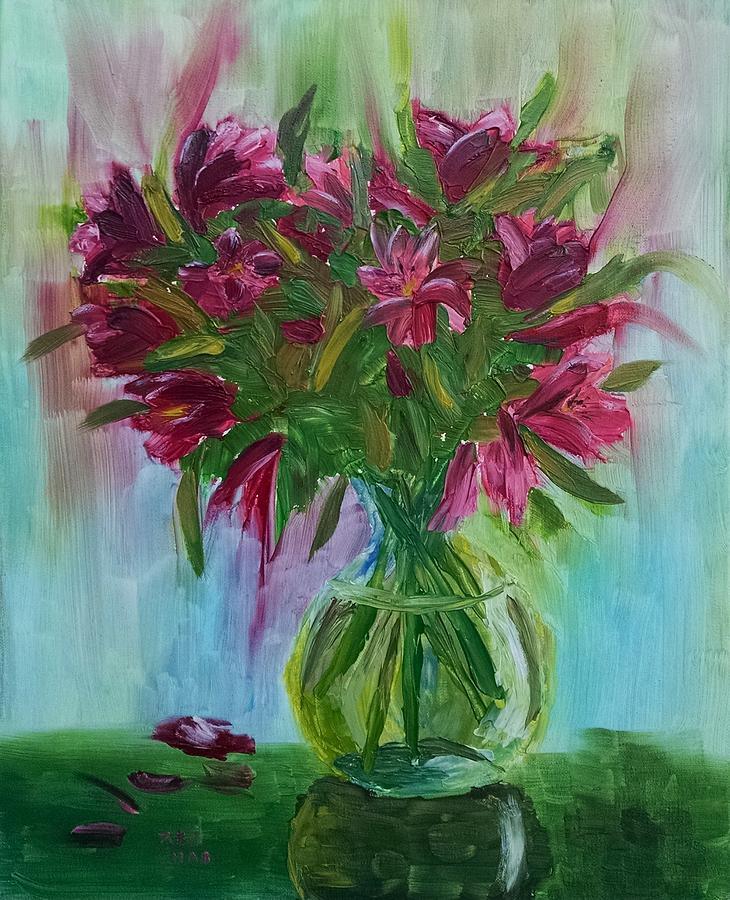 Peruvian Lilies by Helian Osher