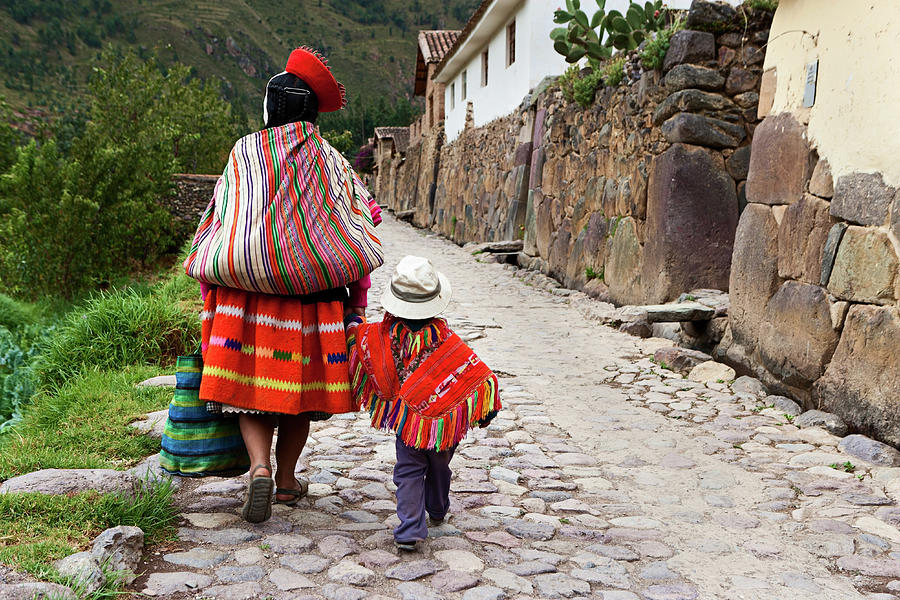 Peruvian Woman With Her Baby, The Photograph by Hadynyah