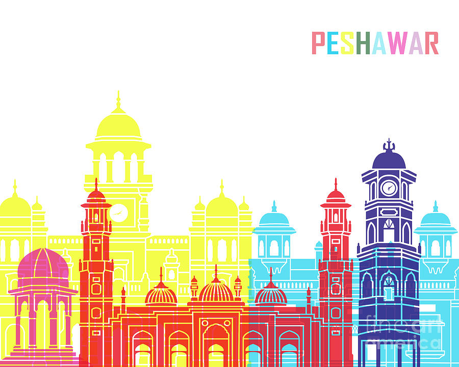 Peshawar skyline pop by Pablo Romero