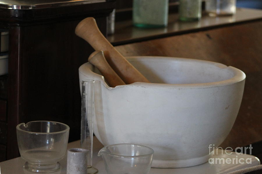 Pestle and Mortar at Fort Stanton New Mexico by Colleen Cornelius
