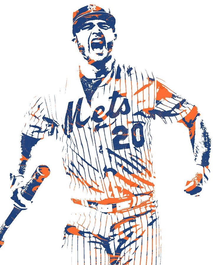 Mets Mixed Media - Pete Alonso New York Mets Pixel Art 5 by Joe Hamilton