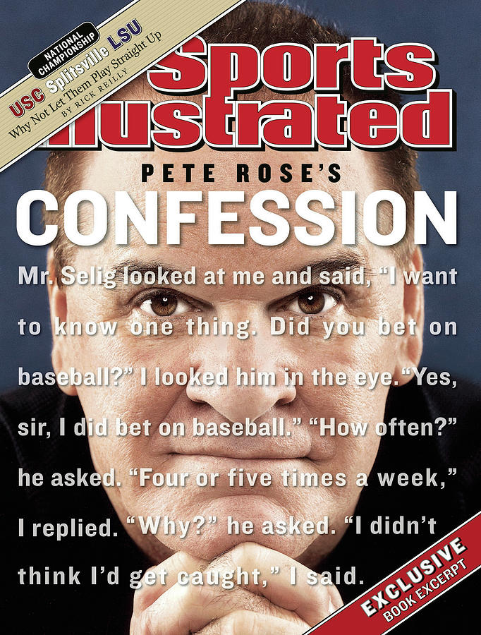 Pete Rose, Baseball Sports Illustrated Cover Photograph by Sports Illustrated