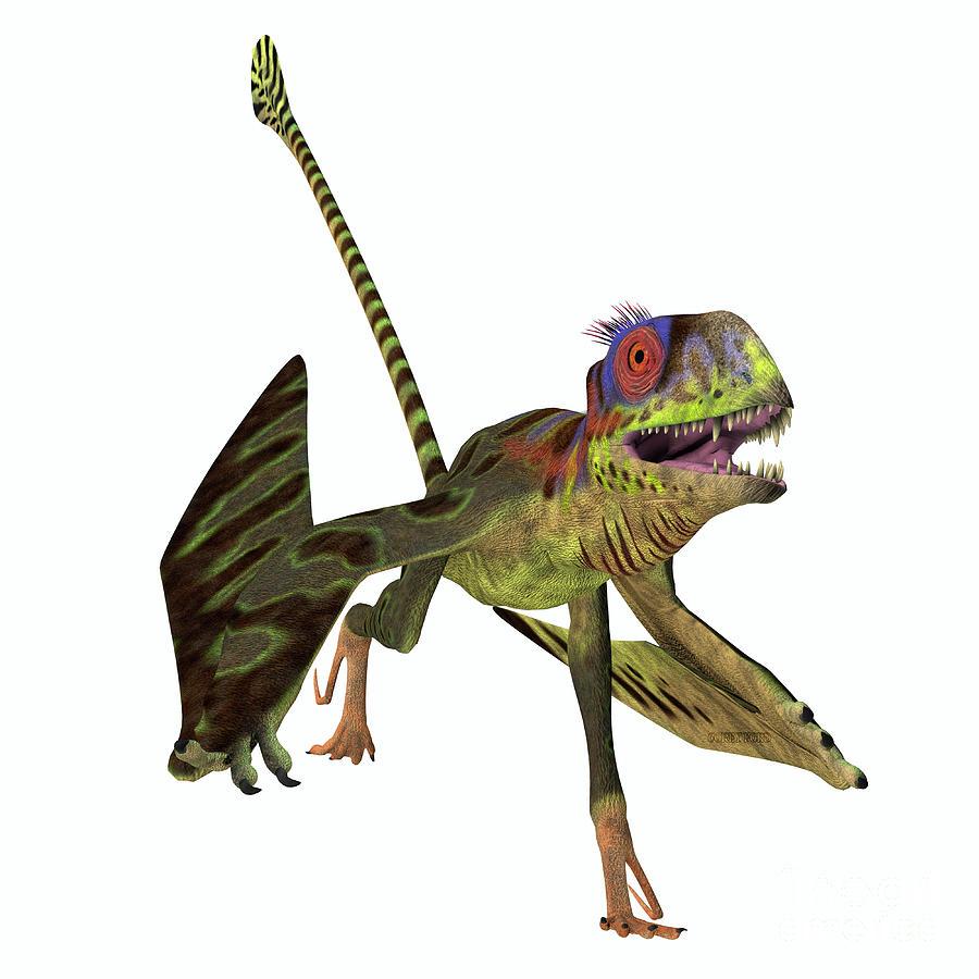 Peteinosaurus Reptile Running by Corey Ford