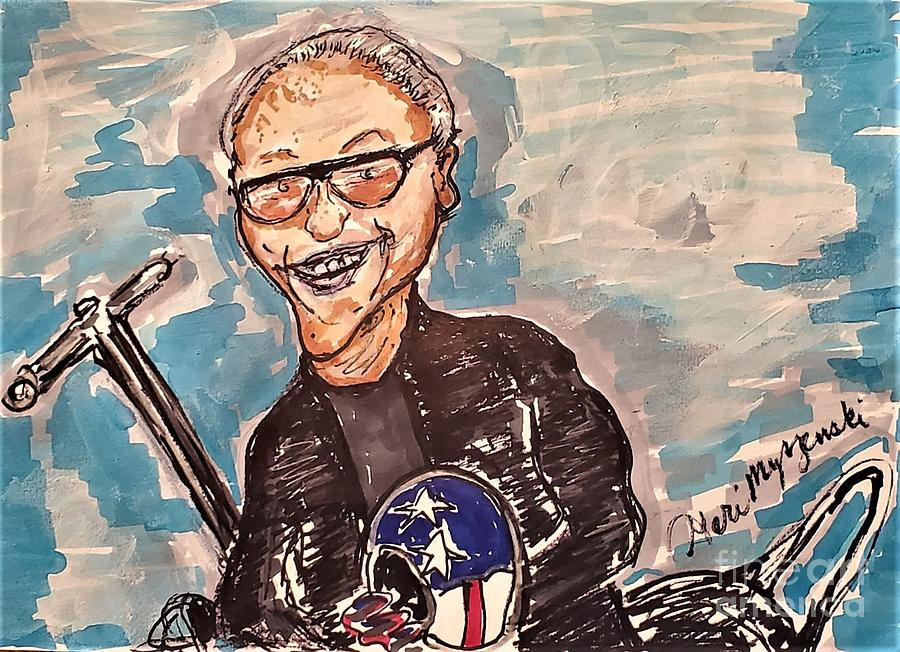 Peter Fonda Easy Rider Painting