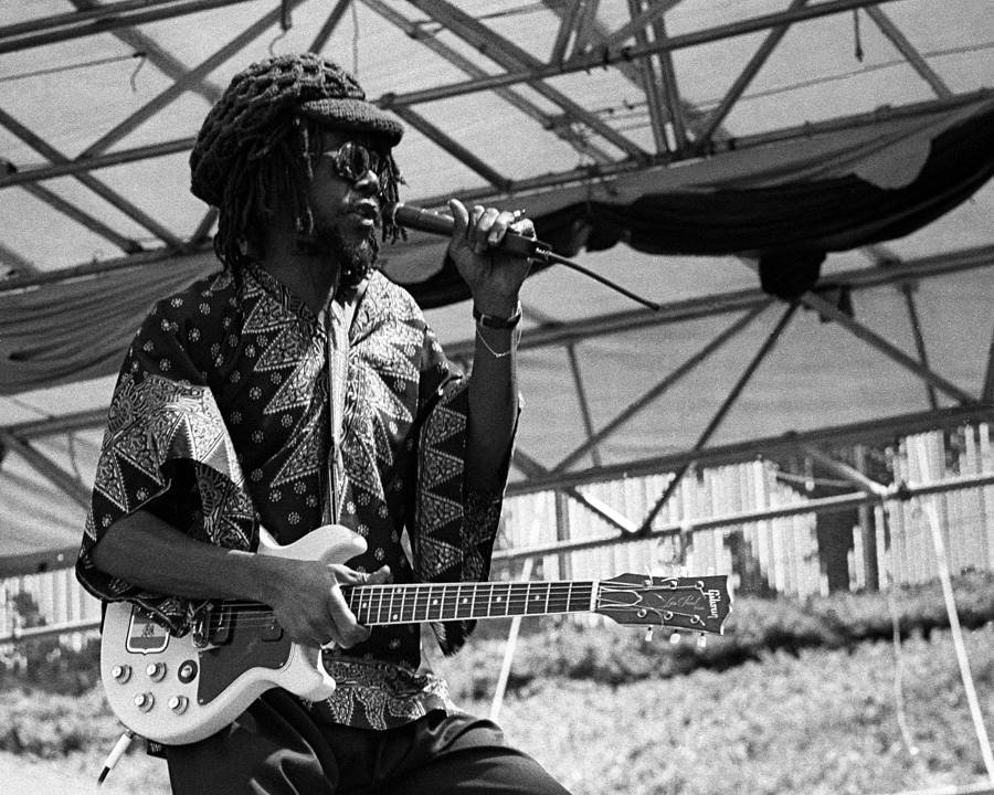 Peter Tosh Live Photograph by Larry Hulst