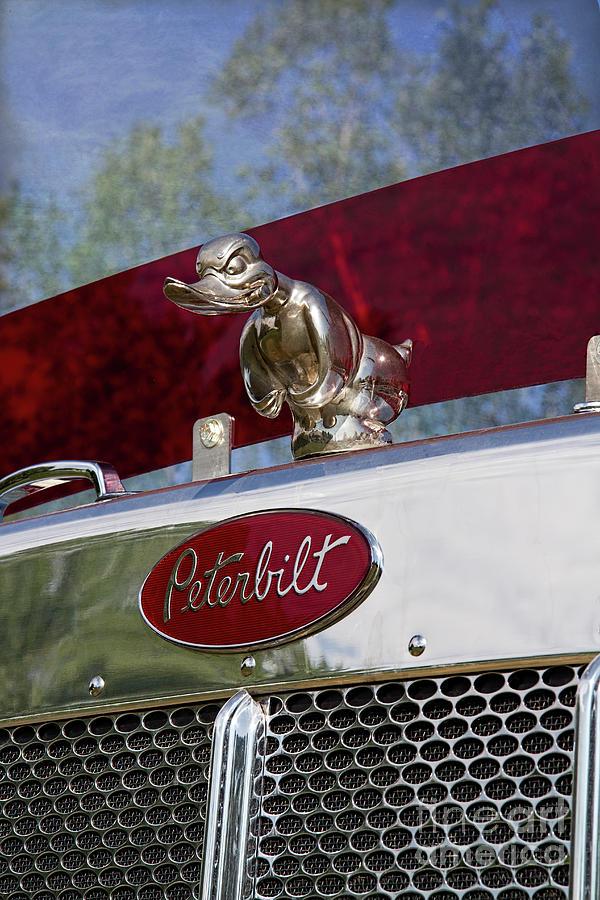 Peterbilt Classic Trucks Logo Fleece Blanket