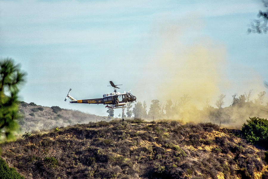 Peters Canyon Helicopter Rescue 1 by Linda Brody