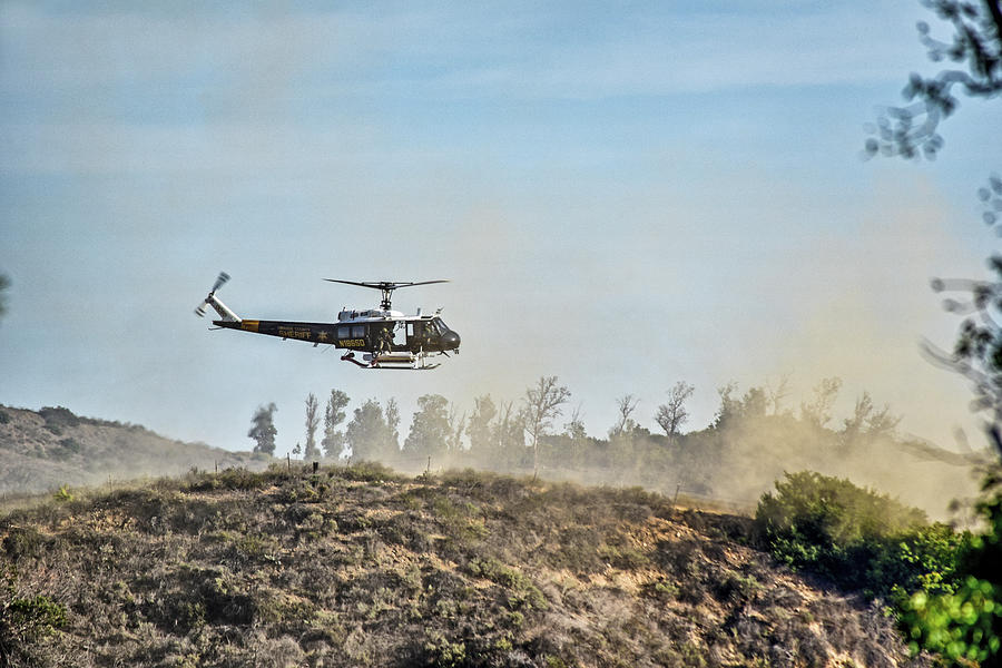 Peters Canyon Helicopter Rescue 2 by Linda Brody