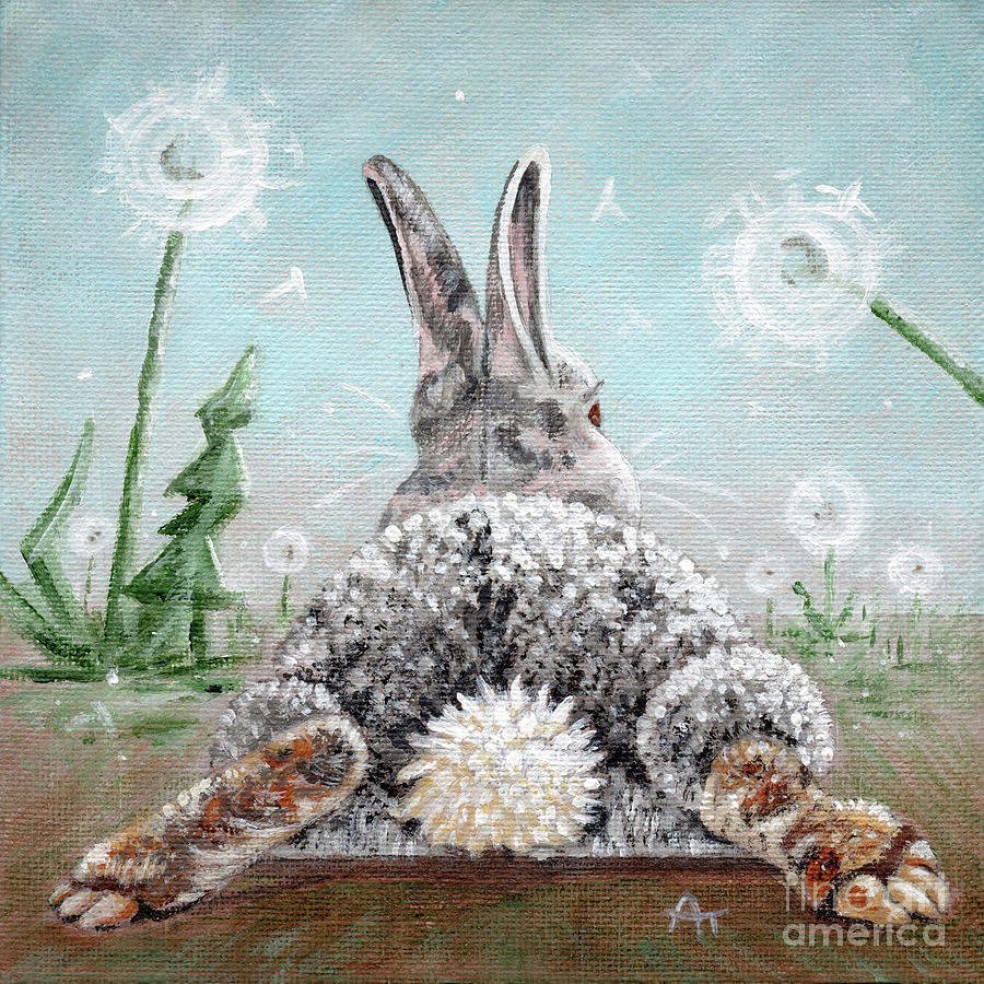 Peter's Cotton Tail - Dandelions by Annie Troe