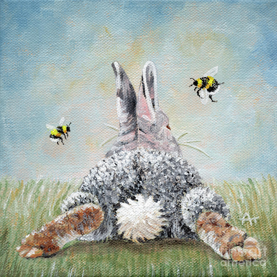 Peter's Cotton Tail - Two Bees by Annie Troe
