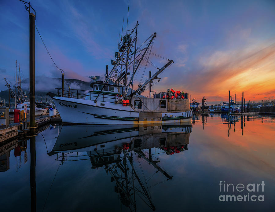 Petersburg Alaska Fishing Boat Sunrise Photograph