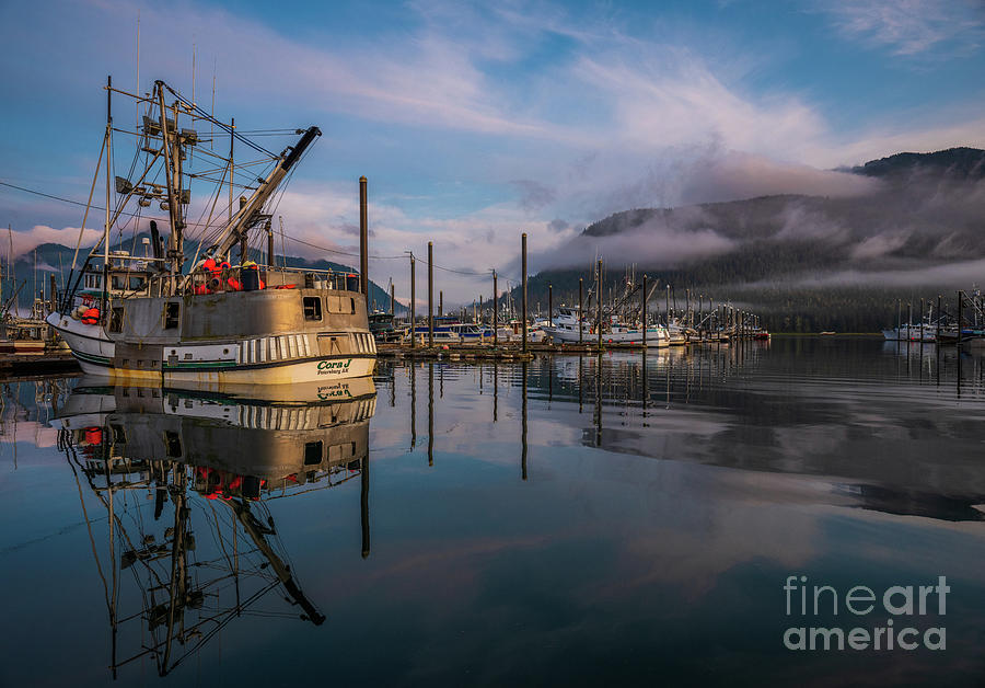Petersburg Alaska Marina Morning Serenity Photograph
