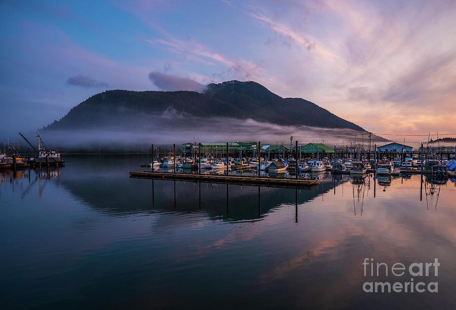 Petersburg Alaska Marina Sunrise Cloudscape Photograph