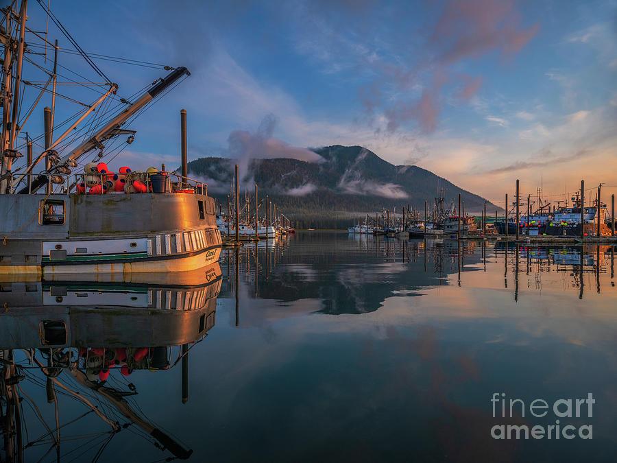 Petersburg Alaska Morning Fishing Boats Photograph