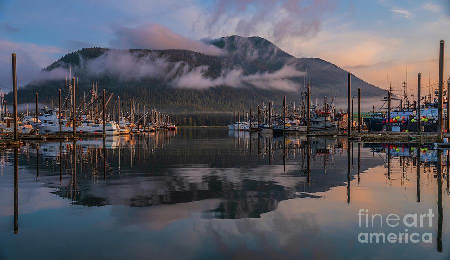 Petersburg Alaska Morning Marina Reflection Photograph