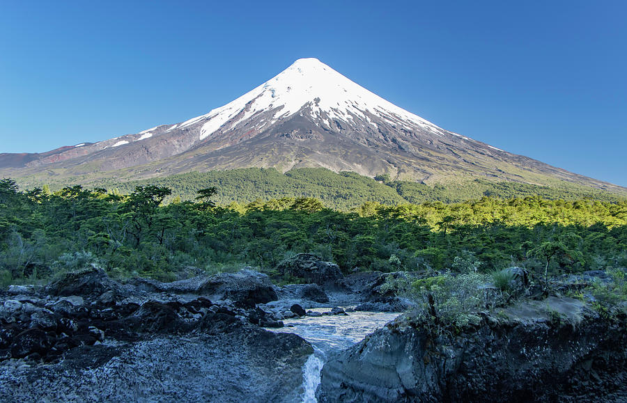 Petrohue Waterfalls and Osorno Volcano, Chile by Venetia Featherstone-Witty
