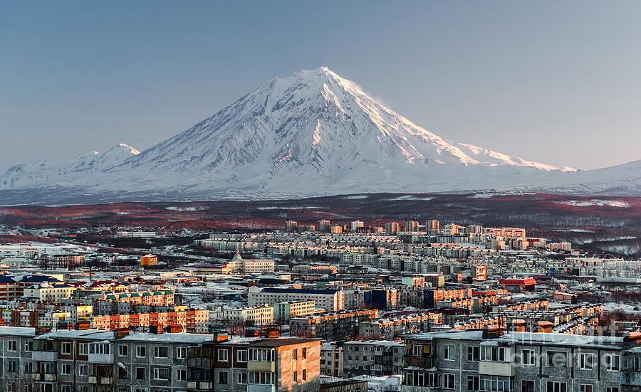 Dwelling Photograph - Petropavlovsk-kamchatsky Cityscape And by Alex Tihonovs