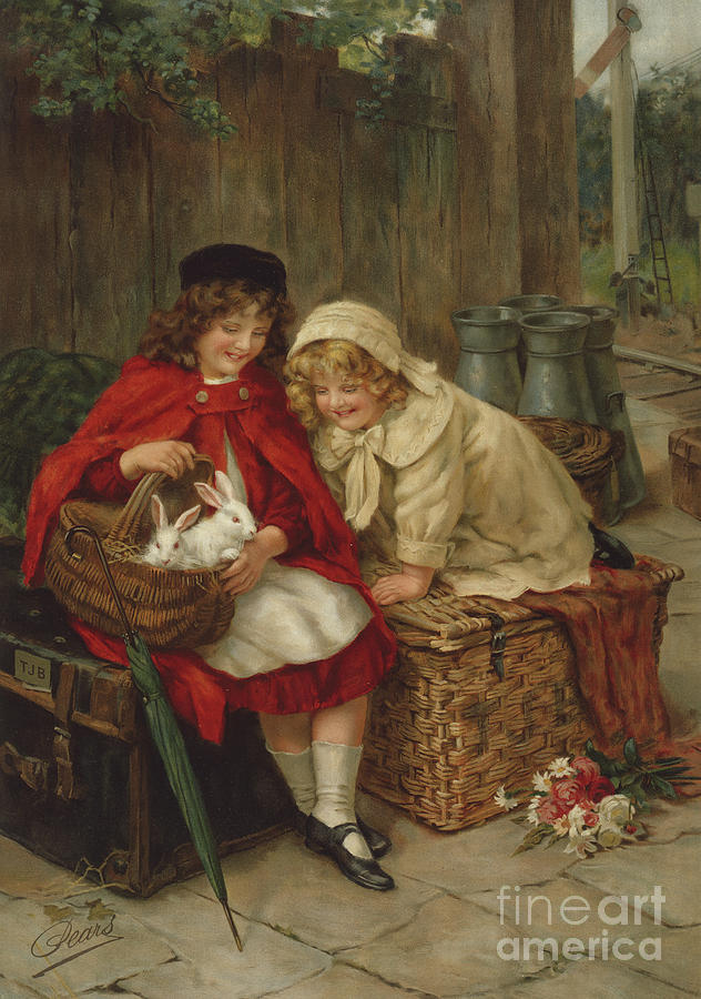 Pets Painting - Pets by George Sheridan Knowles