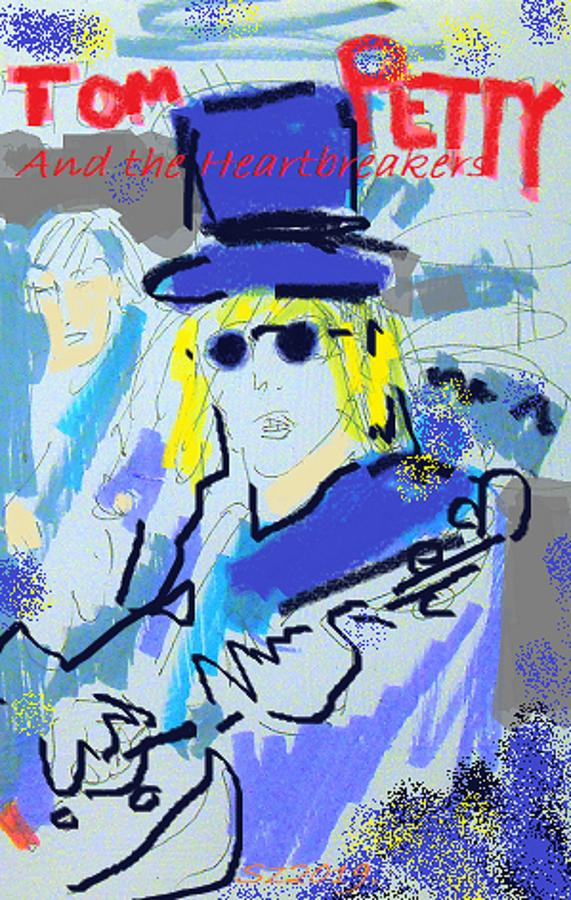 Tom Petty Digital Art - Petty Album by Samuel Zylstra