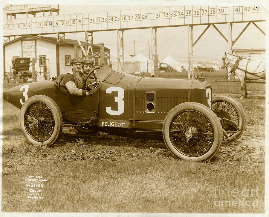 Peugeot Racing Car At The Indianapolis Photograph by Bettmann