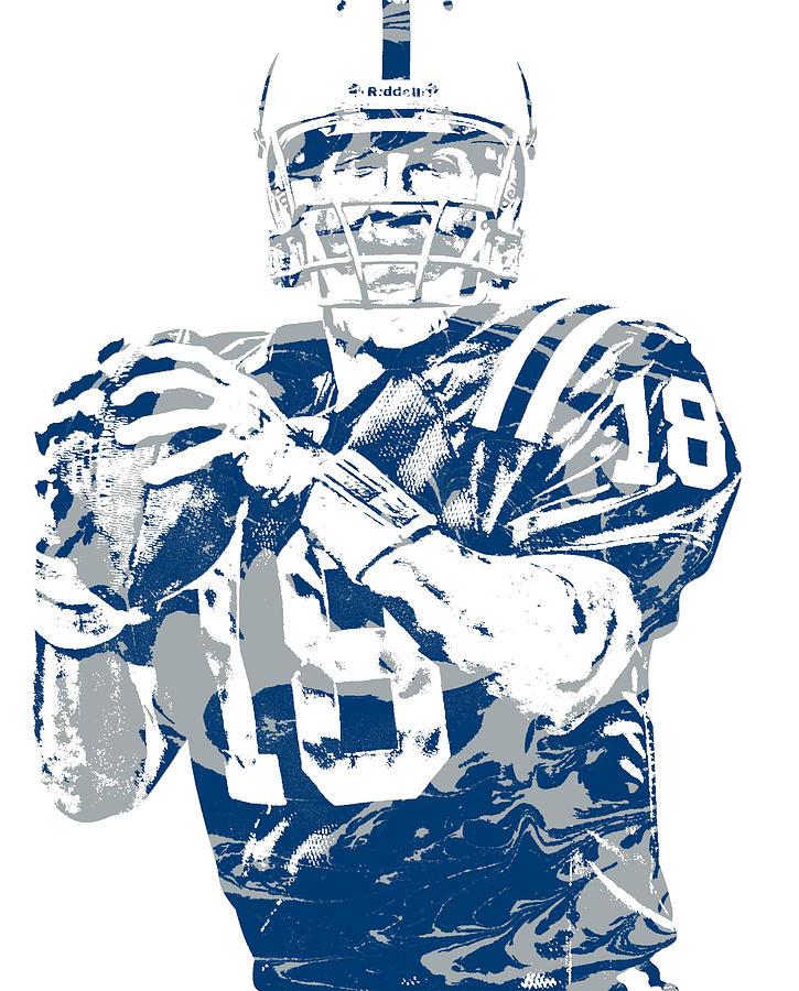 Peyton Manning Mixed Media - Peyton Manning Indianapolis Colts Pixel Art 150 by Joe Hamilton