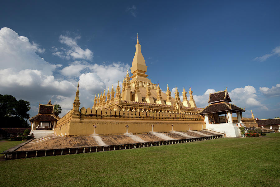 Pha That Luang Stupa In Vientiane, Laos Photograph by Fototrav