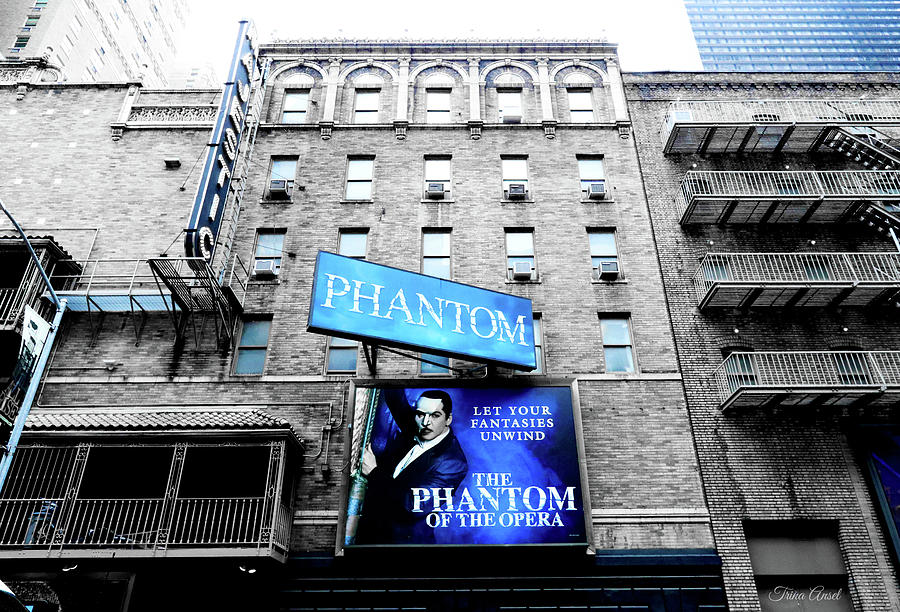Phantom of the Opera in Blue by Trina Ansel