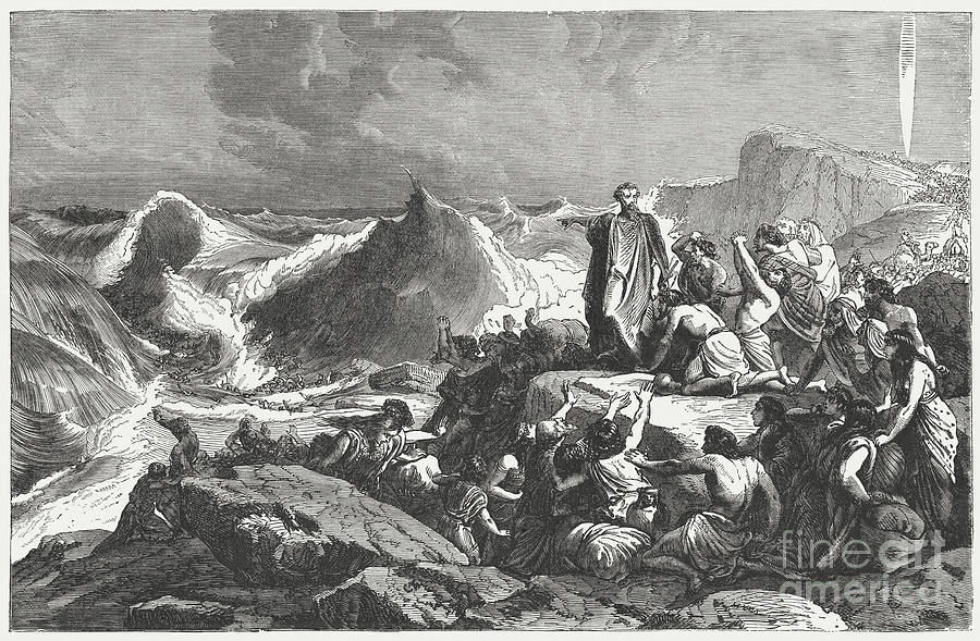 Pharaohs Downfall In The Red Sea Exodus Digital Art by Zu 09