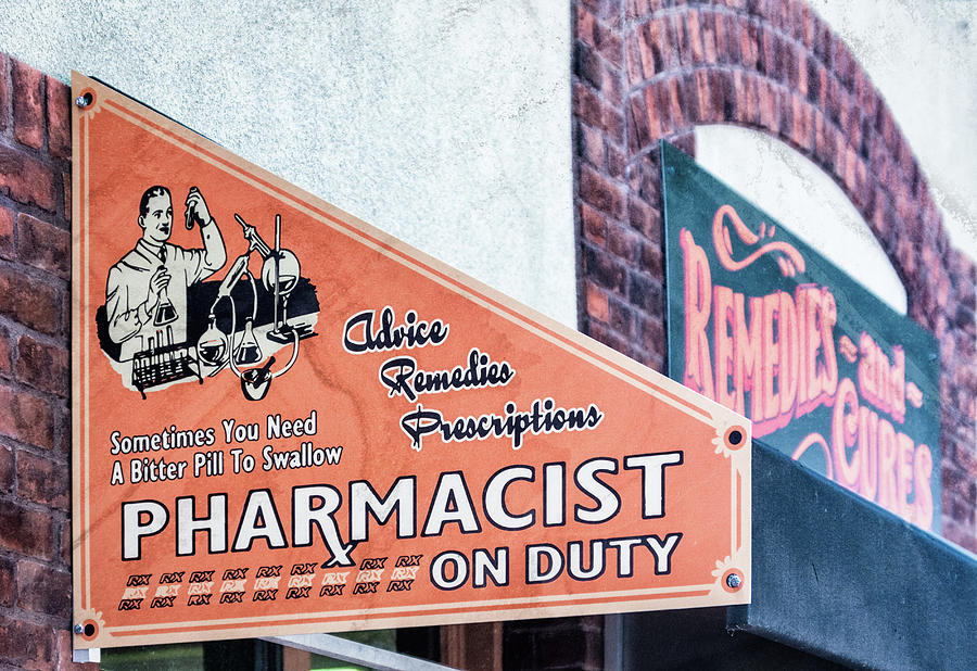 Cures Photograph - Pharmacist On Duty by Debra Martz