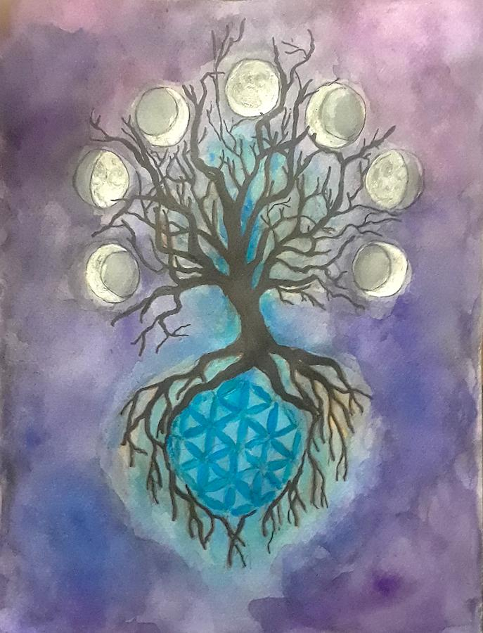 Tree Painting - Phases by Jennie Hallbrown