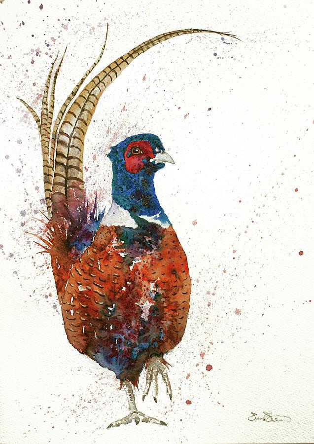 Pheasant Portrait by John Silver