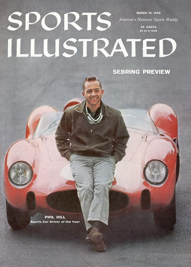 Phil Hill, Auto Racing Driver Sports Illustrated Cover Photograph by Sports Illustrated