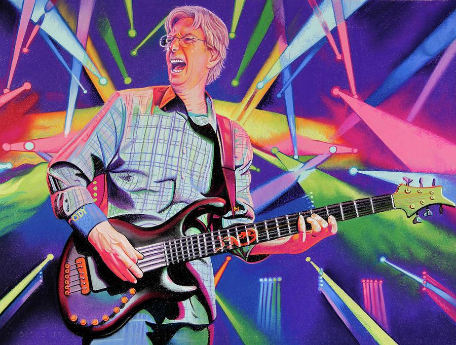 Phil Lesh Drawing - Phil Lesh Lightscape by Joshua Morton