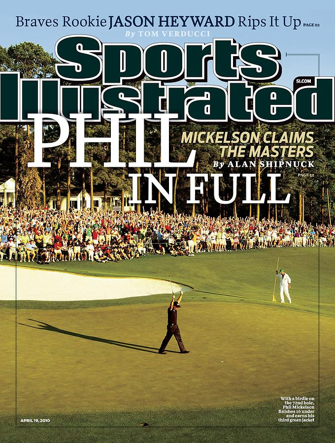 Phil Mickelson, 2010 Masters - Final Round Sports Illustrated Cover Photograph by Sports Illustrated