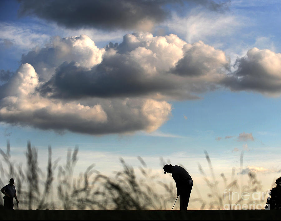 Phil Mickelson Putts On The 4th Green Photograph by New York Daily News Archive