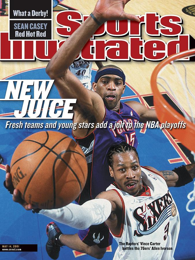 Philadelphia 76ers Allen Iverson, 2001 Nba Eastern Sports Illustrated Cover Photograph by Sports Illustrated